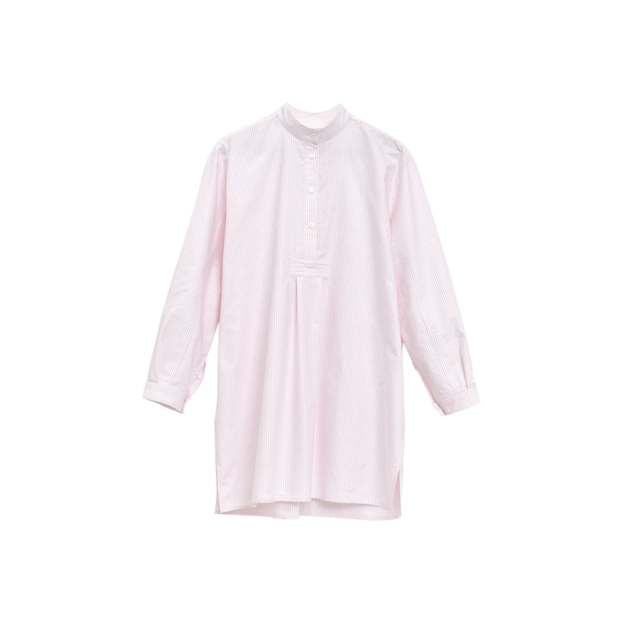 Short Sleep Shirt in Pink Oxford Stripe
