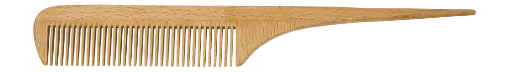 Wooden Rat Tail Comb