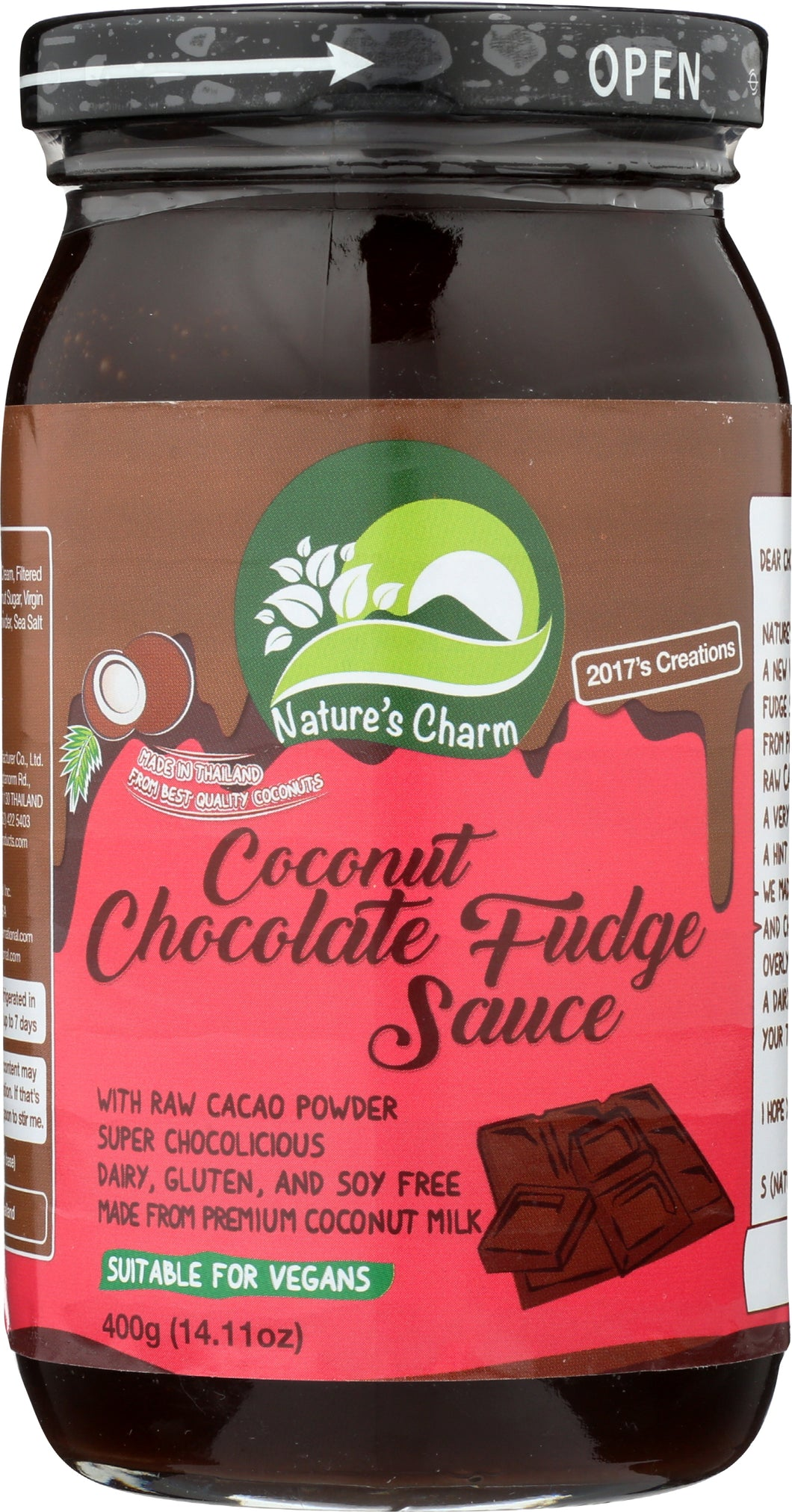 Nature's Charm Coconut Chocolate Fudge Sauce (20% OFF)