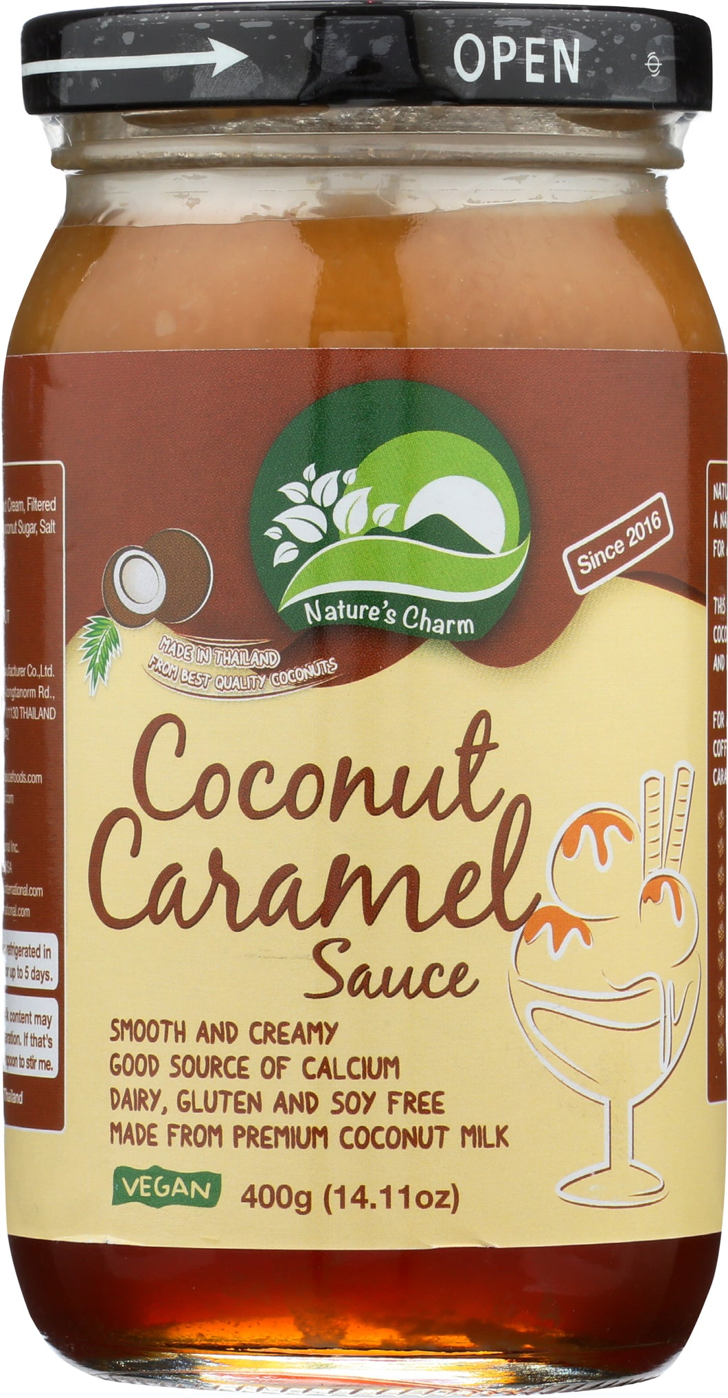 Nature's Charm Coconut Caramel Sauce (25% OFF)