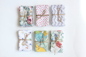 Upcycled Cloth Napkins (4 Pack)