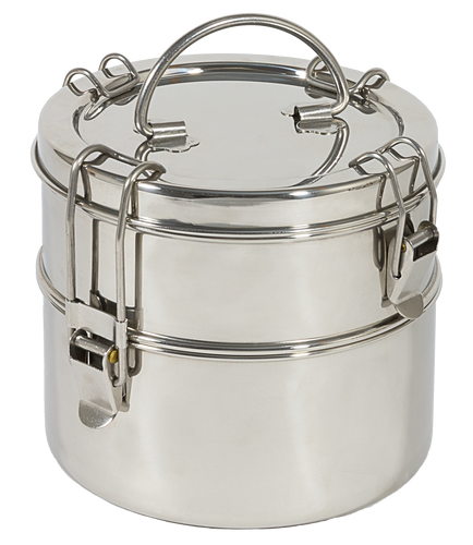 To-Go Ware 2-Tier Stainless Steel Tiffin (Large)