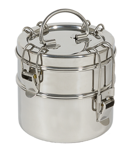 To-Go Ware 2-Tier Stainless Steel Tiffin (Snack Stack)