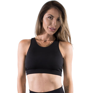 Night Moves lace up bra top