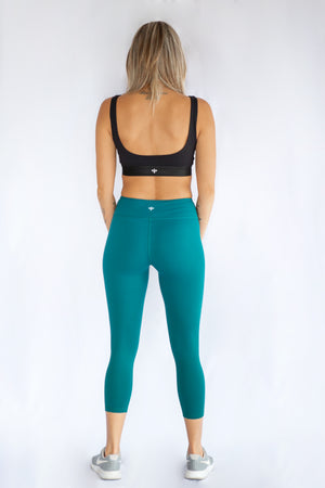 Dark Turquoise Capri's with pockets