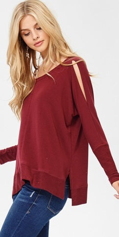 Leisure Long Sleeve with Slits