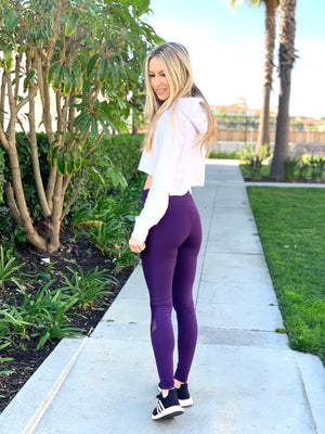 Eggplant Motto Leggings