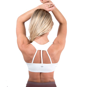 razer back three strap bra top