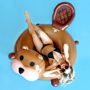 Cute Beaver Inflatable Pool and Water Float - Float-Eh