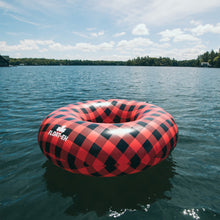 Canadian Plaid Inflatable Inner Tube for Adults - Float-Eh