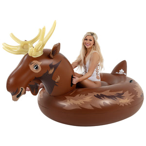Ride-on Adult Sized Moose Inflatable Pool and Lake Floaty - Float-Eh