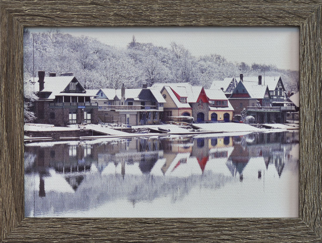 Boathouse Row in Winter