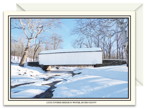 Loux Covered Bridge in Winter