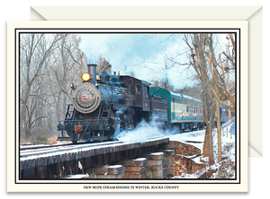 New Hope Historic Steam Engine in Winter
