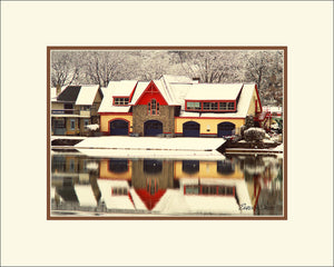 Penn Boathouse in Winter