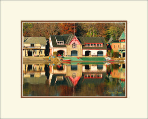 Penn Boathouse in Autumn
