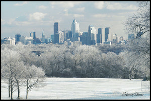 Philadelphia Skyline in Winter