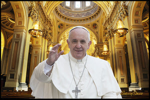 Pope Francis visits the Basilica