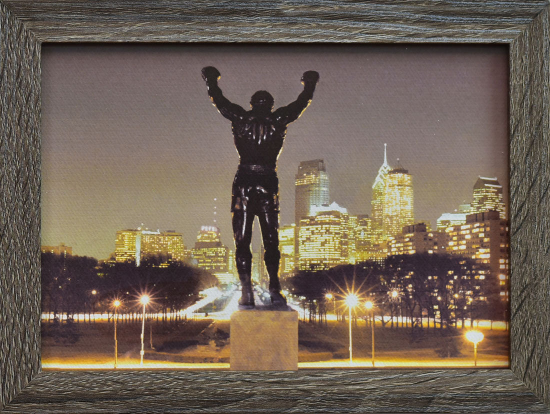 Rocky statue at Night