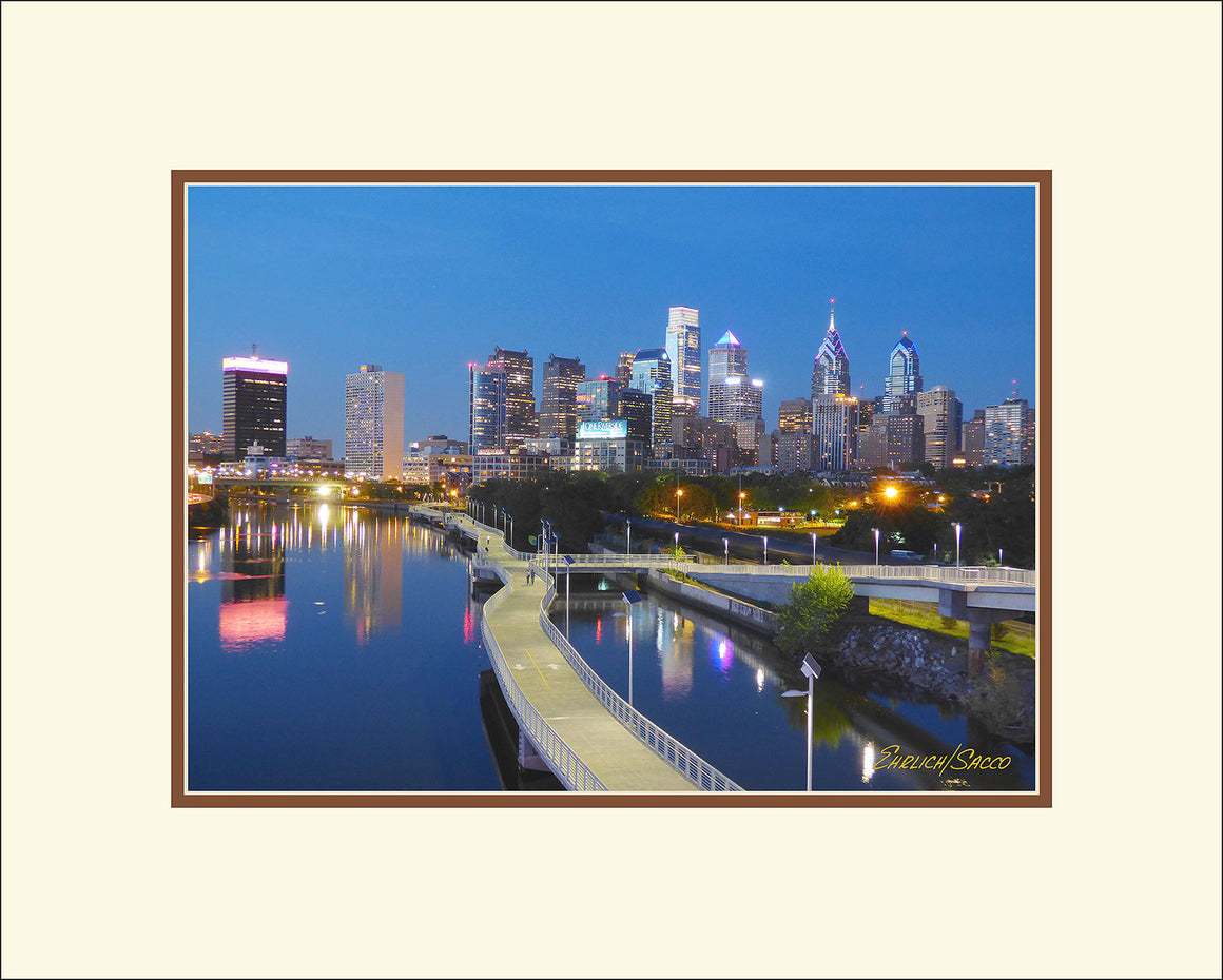Schuylkill Bank Boardwalk at Night