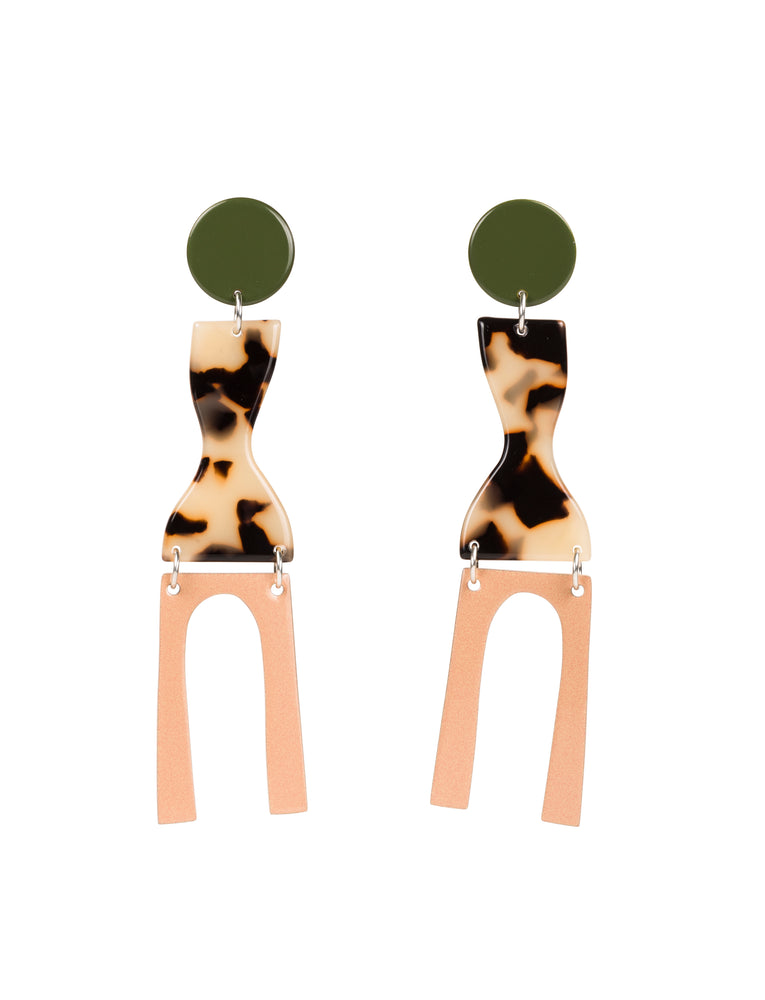 Faro Earrings (Army)