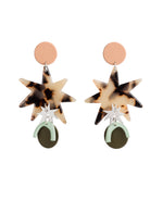 Asta Arc Statement Earrings (Peach)