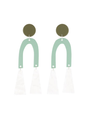 Tremble Earrings (Bamboo Green)