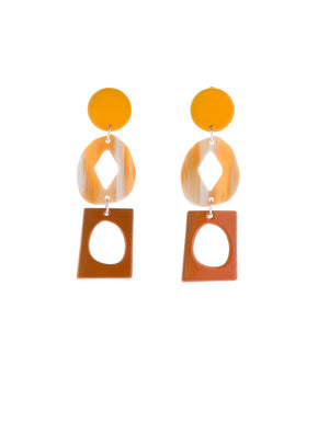 Century Earrings (Sunflower Yellow)