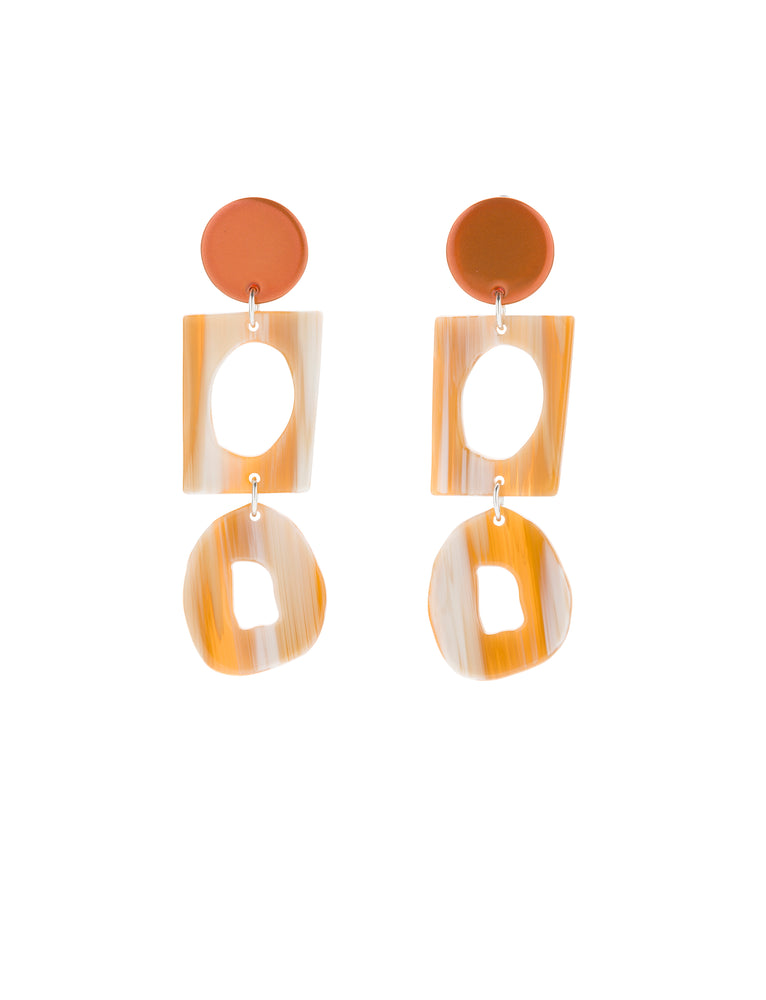 Collector Earring (Tangelo Chrome)