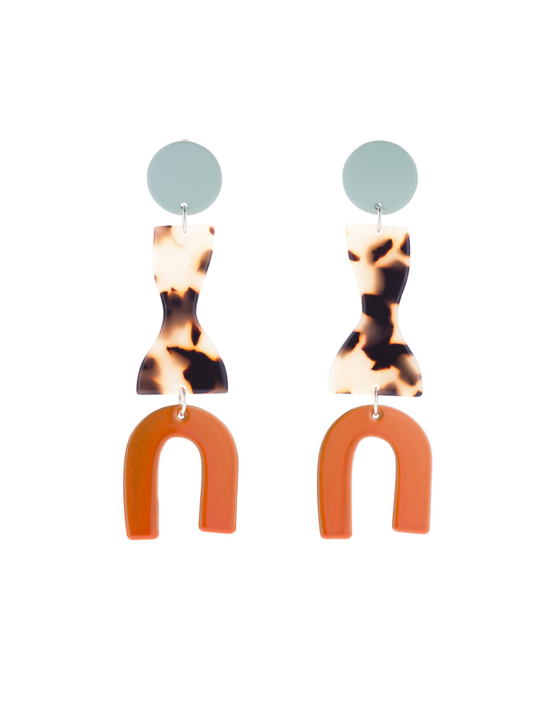 Roy Earrings (Mint)