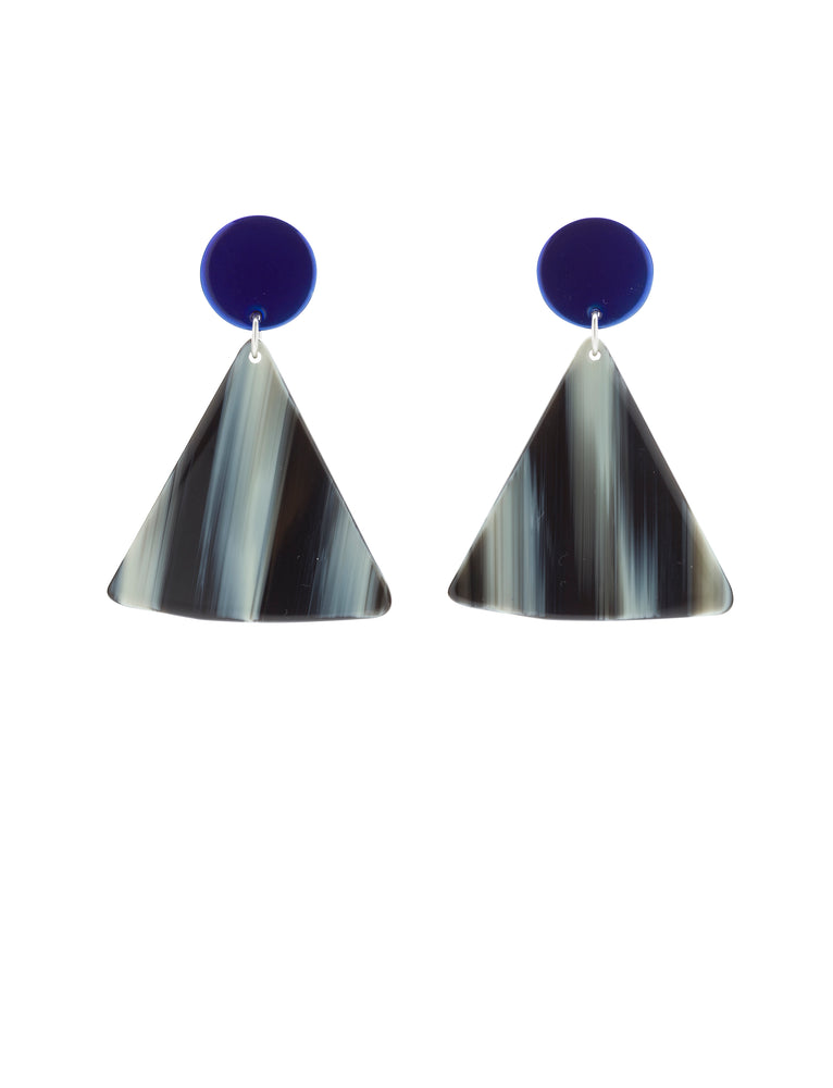 Chip Earrings (Azure Chrome)