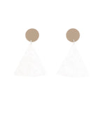 Chip Earrings (Tan)