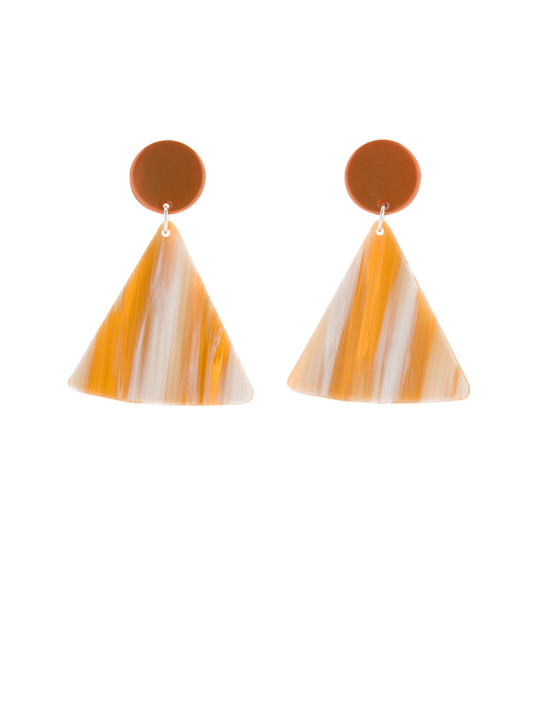 Chip Earrings (Tangelo Chrome)