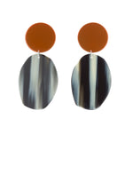 Geology Earrings (Tangelo Chrome)