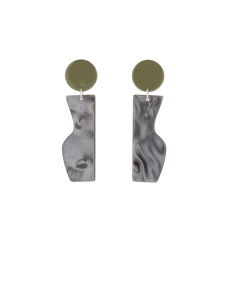Vessel Earrings (Bamboo Green)
