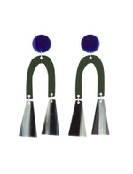 Tremble Earrings (Azure Chrome)