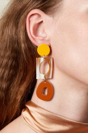 Macramé Earring (Sunflower Yellow)