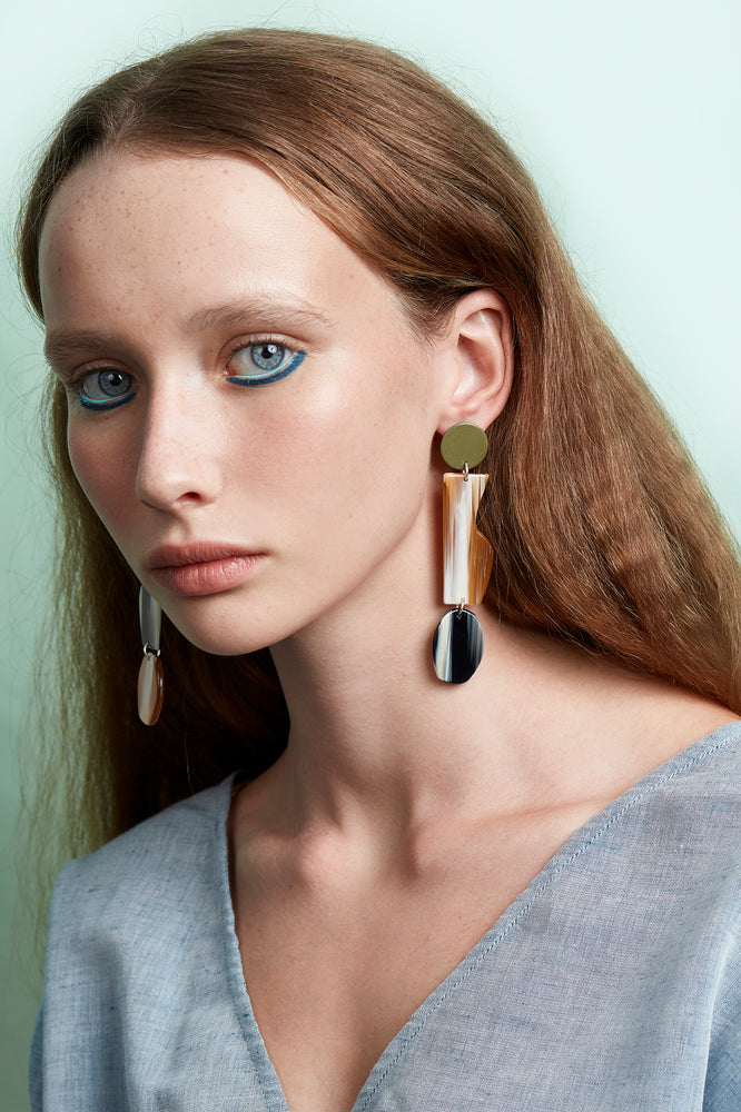 Artefact Earrings (Bamboo Green)