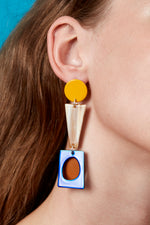 Collage Earrings (Sunflower Yellow)