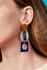 Century Earrings (Tangelo Chrome)