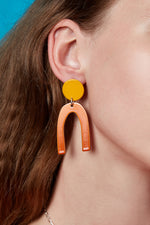 Otis Earrings (Sunflower Yellow)