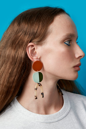 Efira Earrings (Tangelo Chrome)