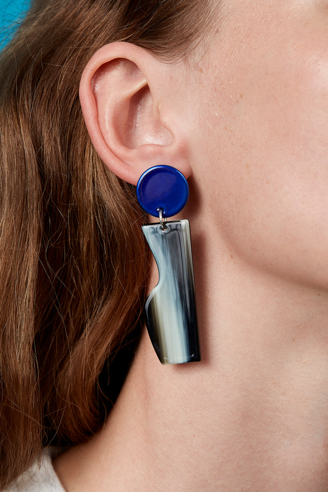 Vessel Earrings (Azure Chrome)