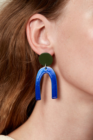 Otis Earrings (Olive Green)