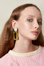 Frame Earrings (Mint)