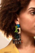 Mismatched Comb Earrings