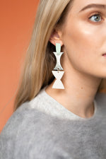 Monument Earrings (Grey Mint)