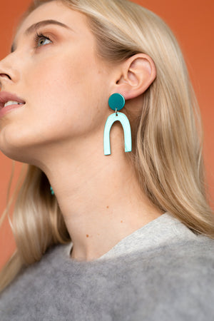 Otis Earrings (Chrome Teal)