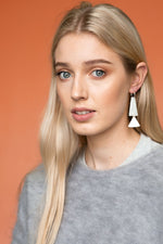 Iris Hoop Earrings (White)