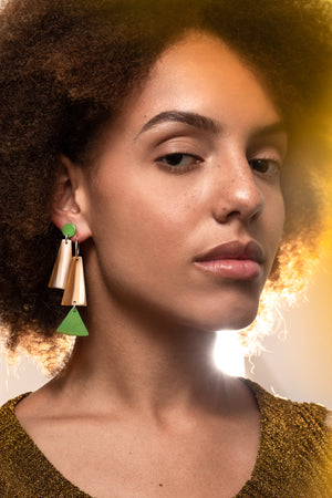 Iris Hoop Earrings (Kiwi)